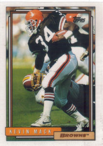 Kevin Mack 1992 Topps #160 football card