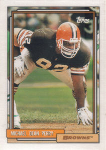 Michael Dean Perry 1992 Topps #712 football card