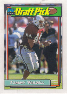 Tommy Vardell Rookie 1992 Topps #271 football card