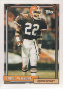 Vince Newsome 1992 Topps #470 football card