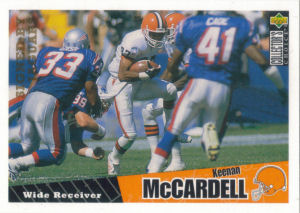 Keenan McCardell Rookie 1996 Upper Deck Collectors Choice #144 football card