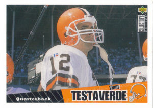 Vinny Testaverde 1996 Upper Deck Collectors Choice #114 football card