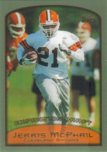 Jerris McPhail Expansion Draft 1999 Topps #324 football card