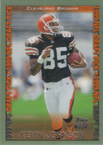 Kevin Johnson Rookie 1999 Topps #342 football card