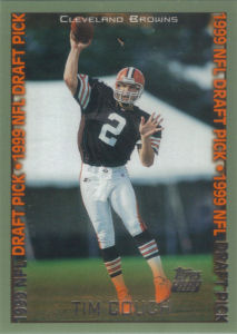 Tim Couch Rookie 1999 Topps #345 football card
