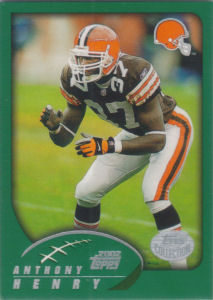 Anthony Henry 2002 Topps #107 football card