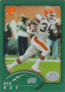 Ben Gay 2002 Topps #177 football card