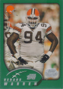 Gerard Warren 2002 Topps #207 football card