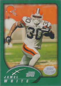 Jamel White 2002 Topps #256 football card
