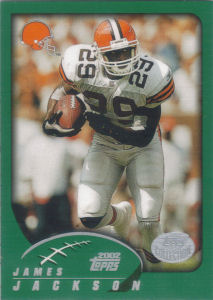 James Jackson 2002 Topps #143 football card