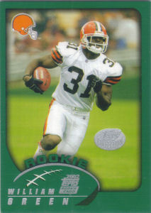 William Green Rookie 2002 Topps #385 football card