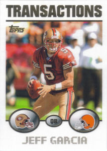 Jeff Garcia Transactions 2004 Topps #185 football card