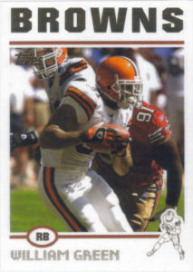 William Green 2004 Topps #156 football card