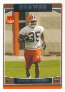 Jerome Harrison Rookie 2006 Topps #376 football card