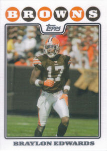 Braylon Edwards 2008 Topps #145 football card