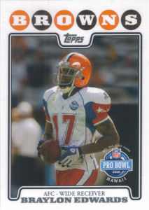 Braylon Edwards Pro Bowl 2008 Topps #312 football card
