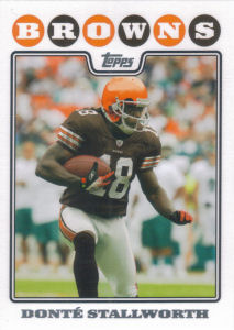 Donte Stallworth 2008 Topps #160 football card