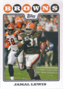 Jamal Lewis 2008 Topps #89 football card