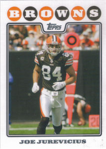 Joe Jurevicius 2008 Topps #169 football card