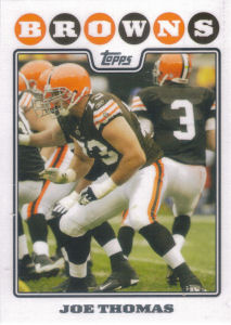 Joe Thomas 2008 Topps #281 football card