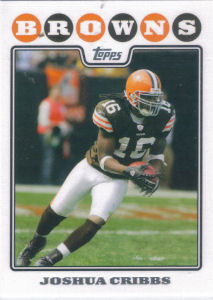 Joshua Cribbs 2008 Topps #285 football card