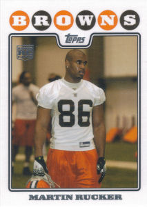 Martin Rucker 2008 Topps #382 football card