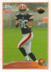 Brian Robiskie Rookie 2009 Topps #411 football card