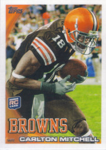 Carlton Mitchell Rookie 2010 Topps #192 football card