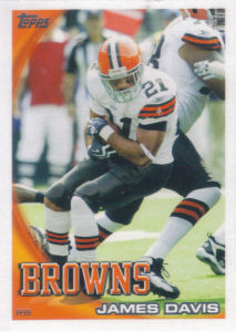 James Davis 2010 Topps #334 football card