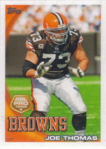 Joe Thomas All-Pro 2010 Topps #324 football card