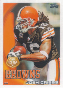 Josh Cribbs All-Pro 2010 Topps #343 football card