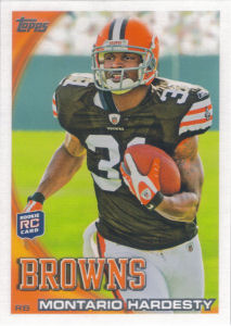 Montario Hardesty Rookie 2010 Topps #132 football card