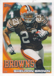 Sheldon Brown 2010 Topps #71 football card