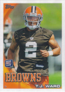 T.J. Ward Rookie 2010 Topps #245 football card