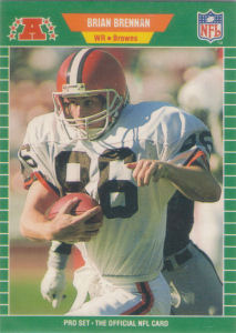 Brian Brennan 1989 Pro Set 73 Football Card