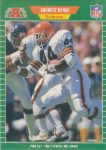 Earnest Byner 1989 Pro Set 74 Football Card