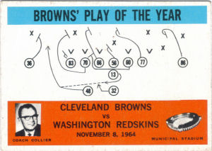 1965 Browns Play of the Year football card