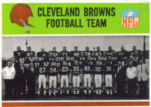 1965 Browns Team football card