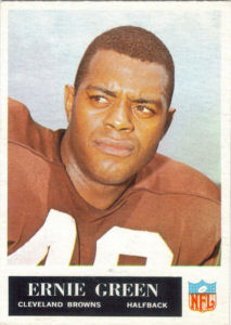 1965 Ernie Green football card with 1964 Statistics