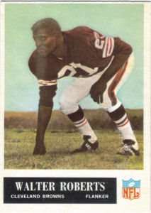 1965 Walter Roberts football card with 1964 Statistics