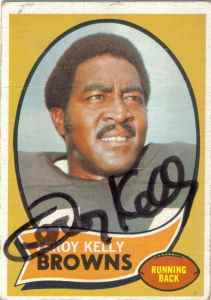 1970 Leroy Kelly Autographed Card