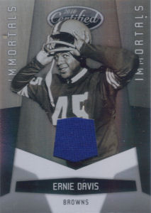 2010 Ernie Davis Panini Immortals Certified College All-Star GAMEWORN JERSEY #169 football card - Serial no. 101/150