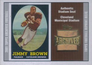 Jim Brown 2001 Topps Archives Relic Seats #ASJB football card