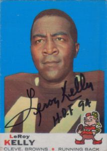 Leroy Kelly 1969 card with his autograph