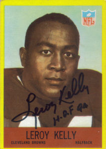 Leroy Kelly Rookie 1967 card with his autograph