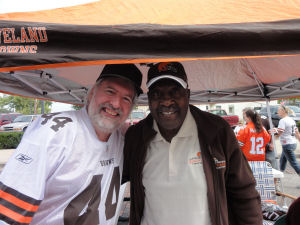 Leroy Kelly and me in Miamisburg Ohio - September 18, 2011