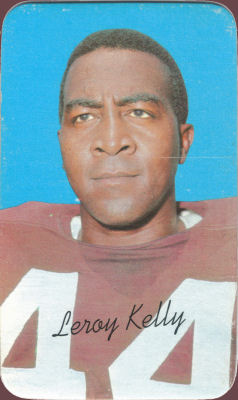 1970 Leroy Kelly Topps Super #8 football card