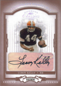 2004 Leroy Kelly Donruss Classics Legend Significant Signatures RED #127 football card