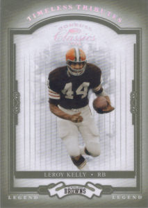 2004 Leroy Kelly Donruss Classics Legend Timeless Tributes Green #127 football card - Serial no. 43/50