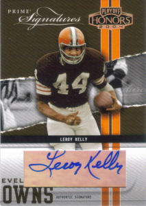 2004 Leroy Kelly Donruss Playoff Honors Prime Signature Previews Autographs #15 football card - Serial no. 041/999